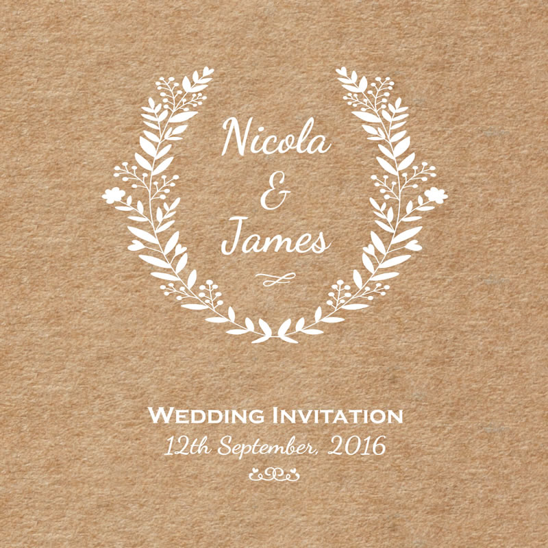 readers-offers-150-treeofhearts.co.uk Tree-Of-Hearts_from-ú1-20_Rustic-Flower-Border_Wedding-Invitation-1