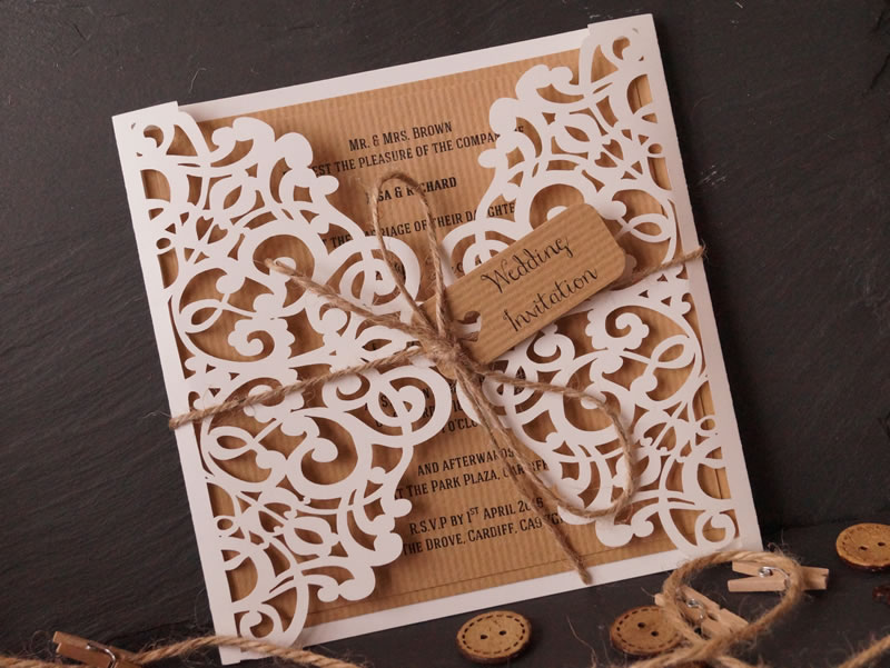 to-have-and-to-hold-rustic-wedding-The Laser Cut Invitation