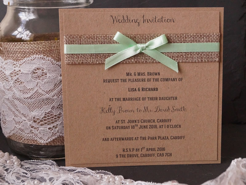 to-have-and-to-hold-rustic-wedding-The Ribbon and Hessian Invitation