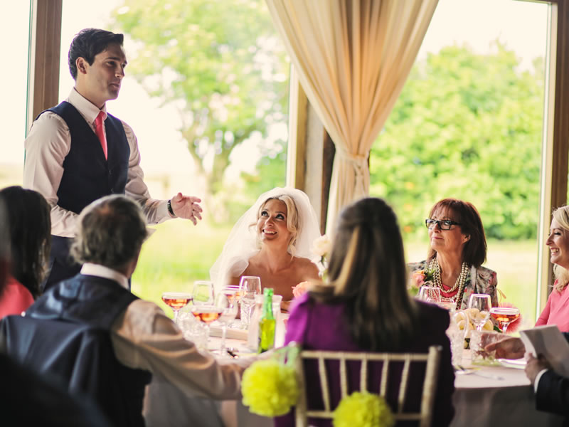 Grooms Speech: Wedged between the bride's dad speech and the best man speech, the groom's speech needs to stand out! Here's what to mention in that all-important speech…