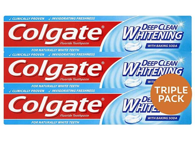 Colgate deep clean whitening toothpaste triple pack - how to get white teeth