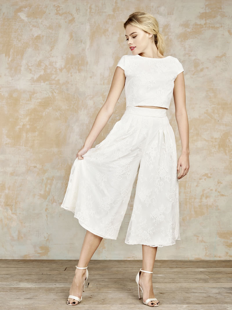 house-of-ollichon-Ivory combo culottes and capped sleeve