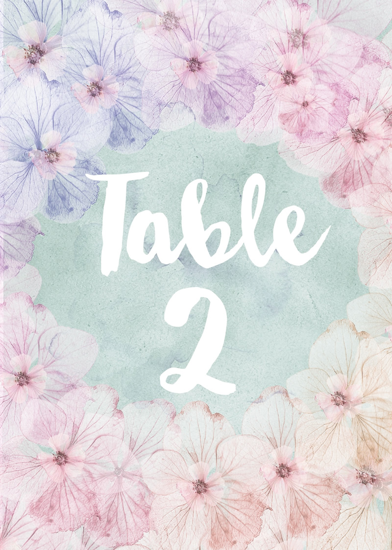 Lucy Ledger - In bloom - Printable Table number