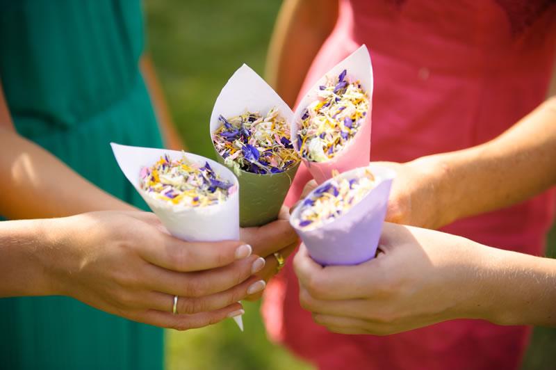 ShropshirePetals.com Mix it Up Confetti in cones £60 for 10 litres