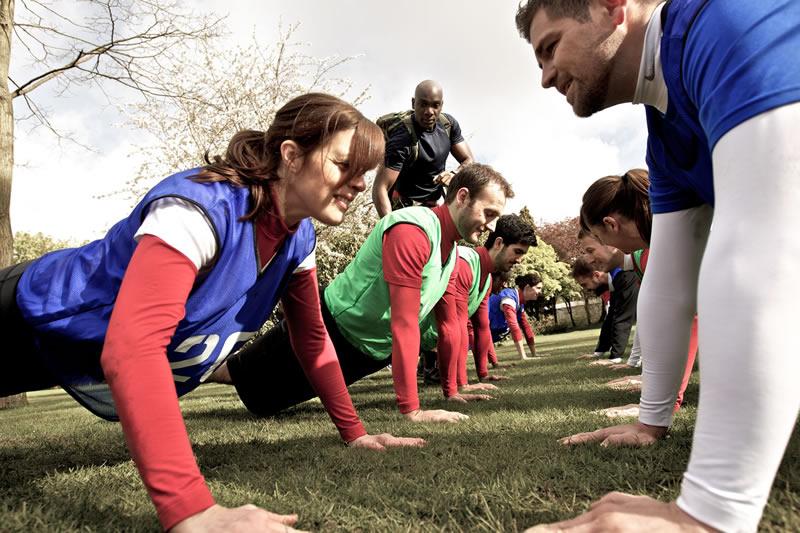 alternative-hen-parties-Brit mil fitness Plank