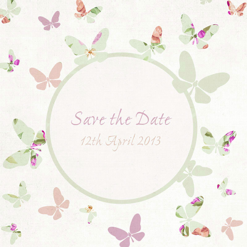 autumn-wedding-stationery-heartinvites.com Floral Flutter_Save the Date_Heart Invites_From £1.90