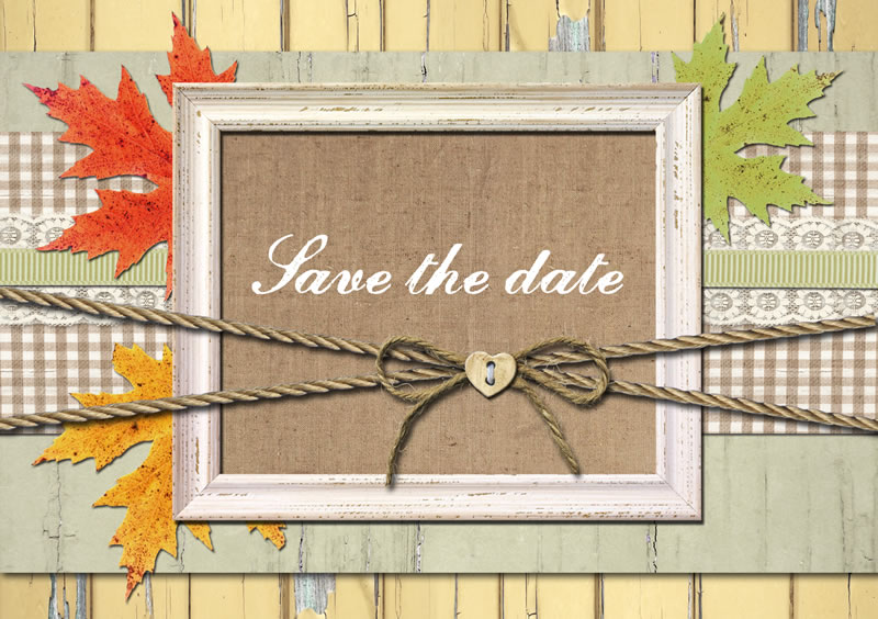 9 save the dates perfect for an autumn wedding