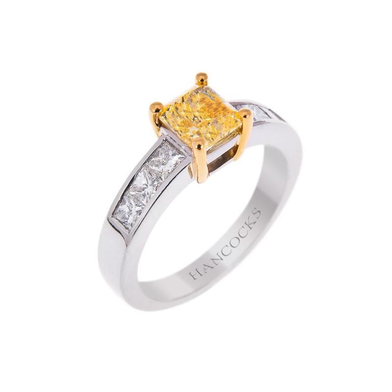 bonfire-night-proposal-Yellow Diamond Ring - Hancocks