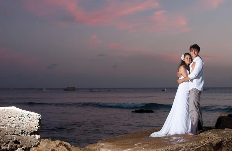 elegant-hotels-Wedding couple at The House