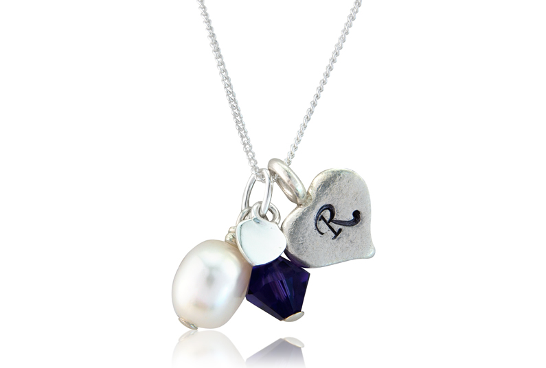 readers-offers-1. bish bosh becca personalised pearl  and heart necklace £29 hanging up