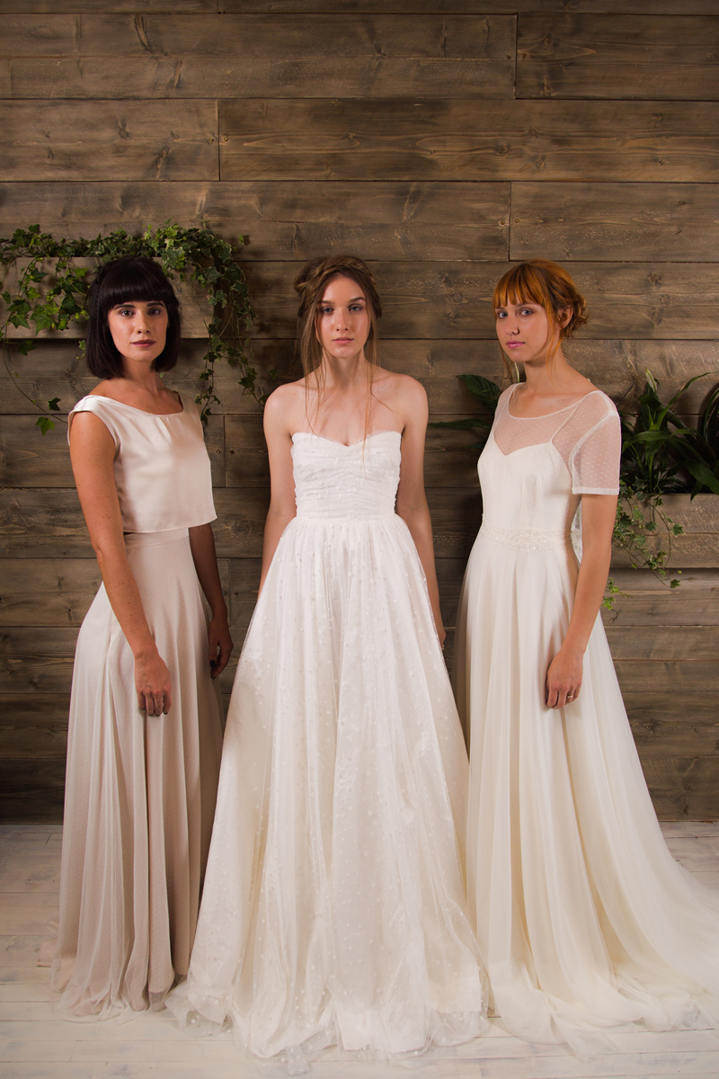 Rachel Burgess Bridal Boutique- L-R 'Frankie, Thea & Nieve' from the E&W Couture Spotlight Collection. Photo By Jon Turtle Photographer (1)