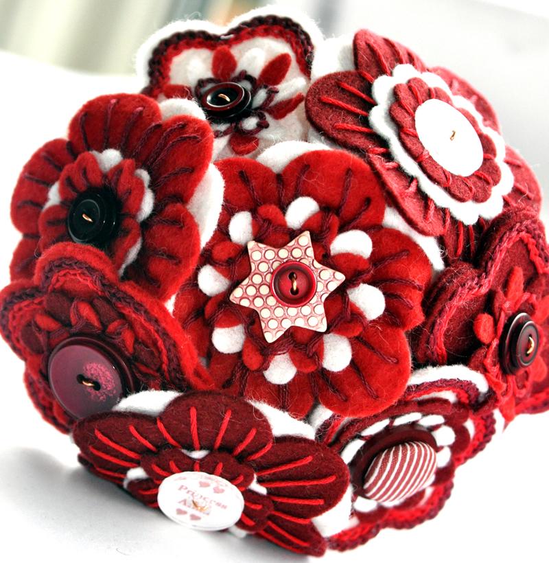 alison-in-wonderland-wedding-theme-Embroidered Flower Girl Bouquet