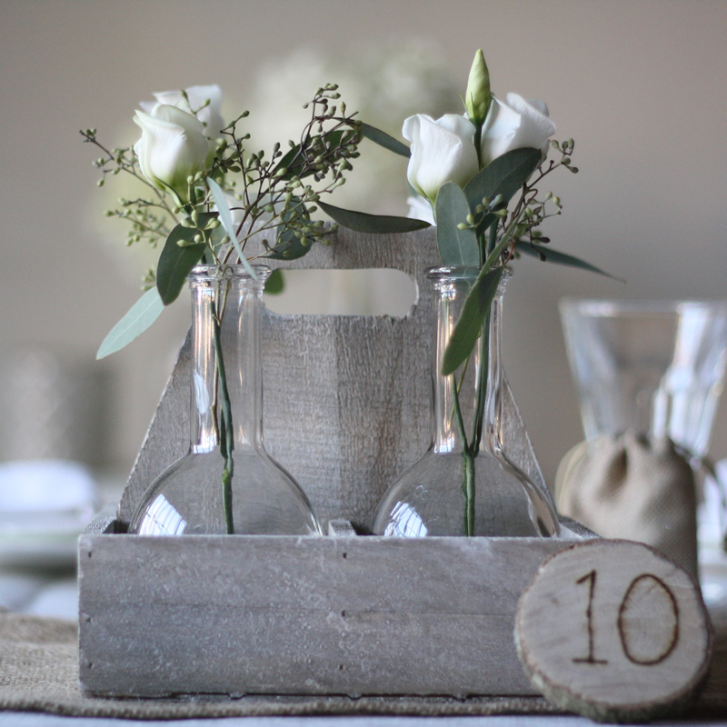 bottles in crate centrepieces £15 The Wedding of my Dreams (3)