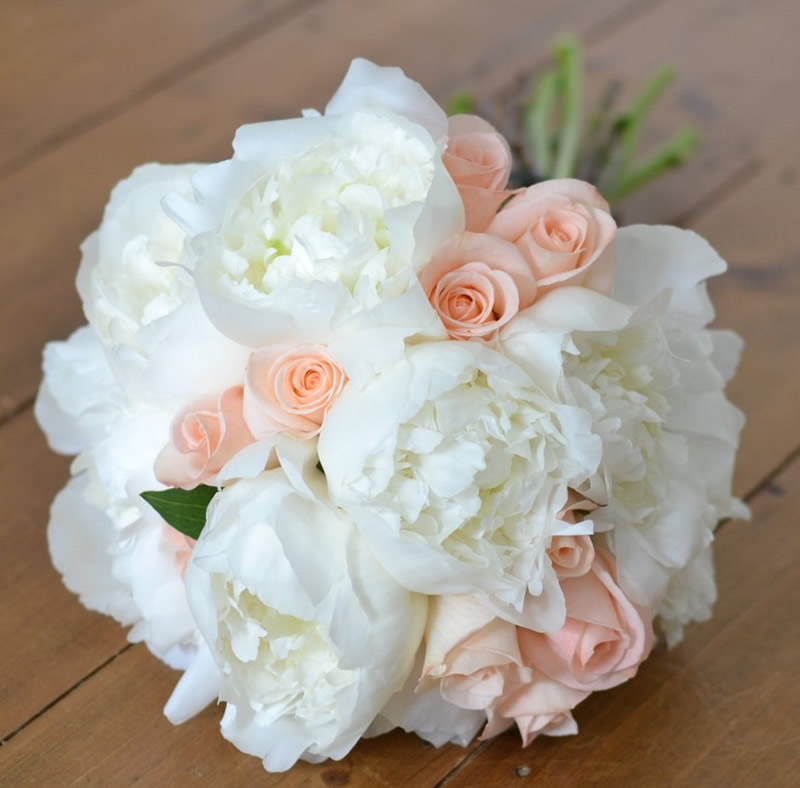flowers-for-all-seasons-06 June - Handtied Bouquet - Peonies and Roses