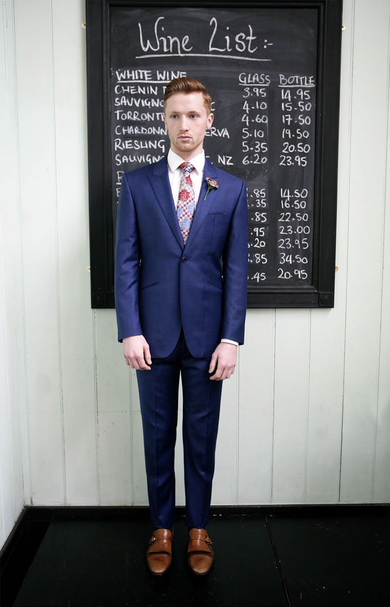 marc-wallace-suit-rules-Marc Wallace Vintage Navy Birds Eye Suit Rose Tie Look