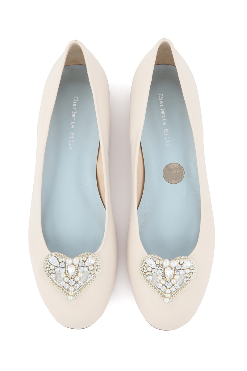 10-fabulous-wedding-shoes-charlottemillsbridal.co.uk Anabel champagne jewel top