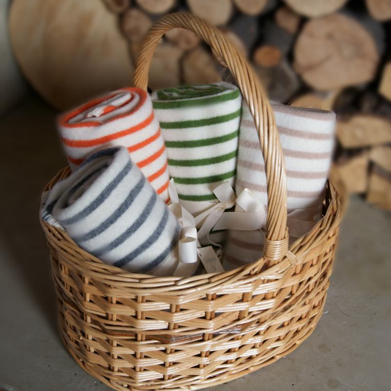 11-winter-weddings-www.notonthehighstreet.com-Breton-Stripe-Lambswool-Baby-Blanket £45.00