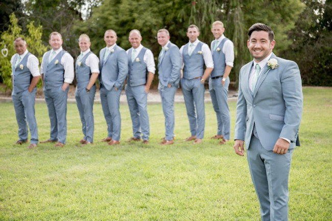 groom and his groomsmen Gemma and Paul had the Prettiest Mint Green Wedding