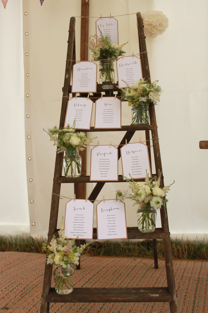 Rustic ladder table plan
