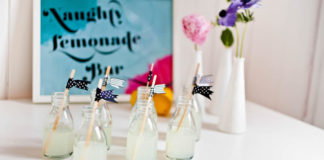 diy-wedding-Ribbon stirrers 1