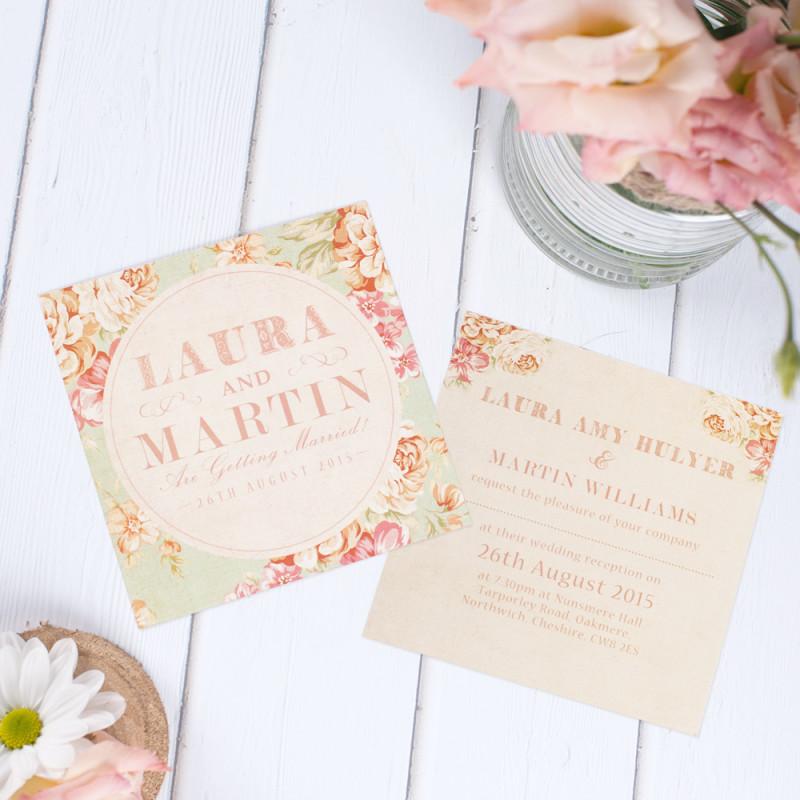 Image 2 - Heart Invites - Vintage Floral