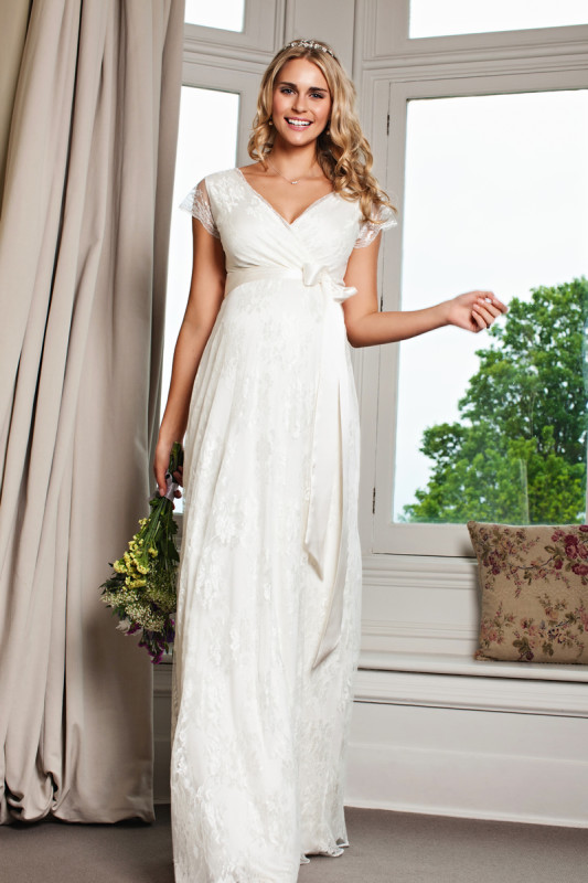 An elegant new collection of maternity wedding dresses from Tiffany Rose that will get you seriously excited!