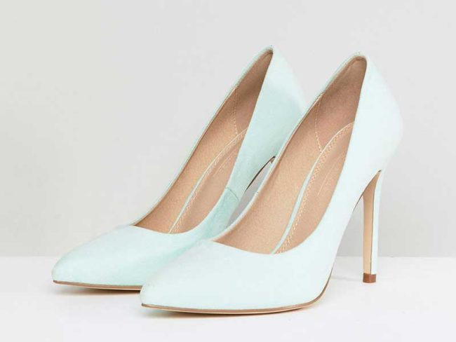 mint green ASOS shoes wedding theme