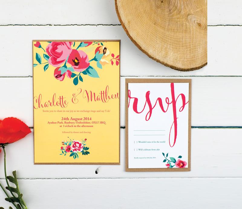 Country Garden Wedding Invitation RSVP