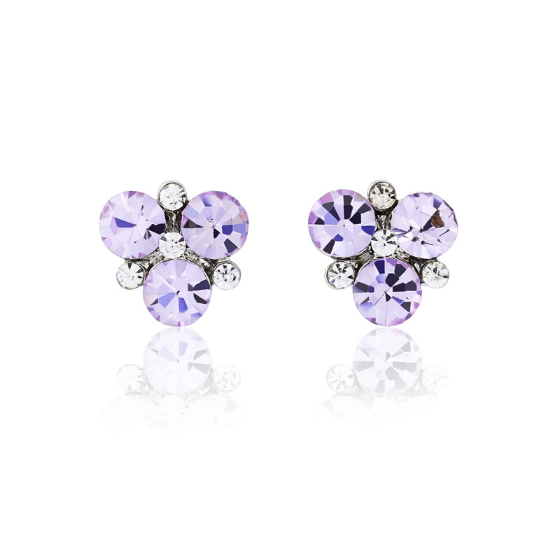 GlitzySecrets.com - Allure of Lavender Earrings - £19