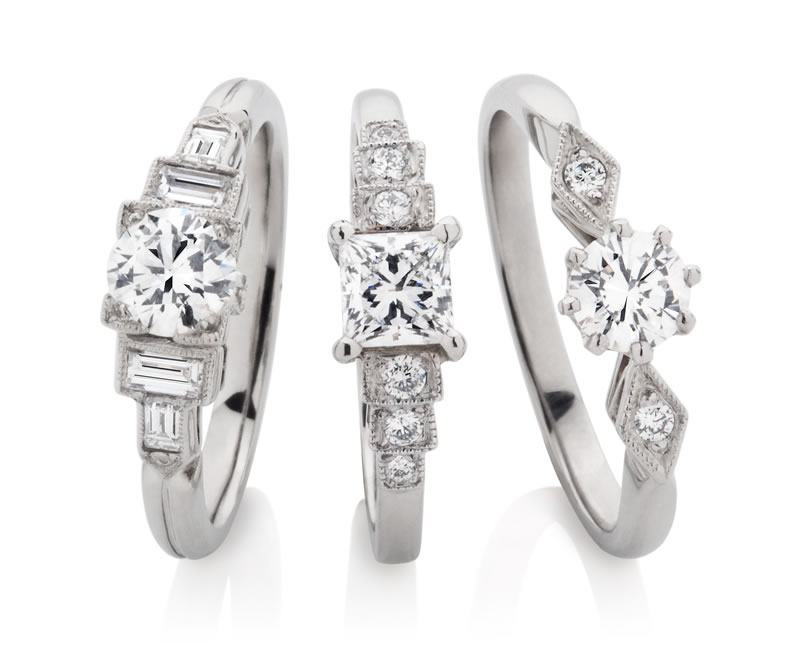 London Victorian Ring Company Art Deco Engagement Rings www.london-victorian-ring.com