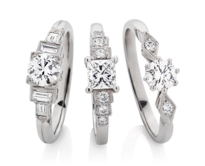 London Victorian Ring Company Art Deco Engagement Rings www.london-victorian-ring.com