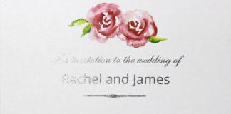 Summer Roses Wedding Invitation Folded