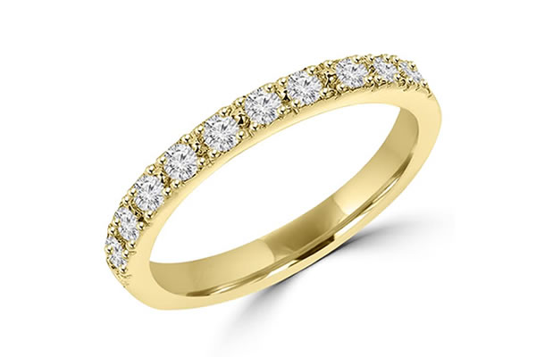 Diamond set Yellow gold Wedding bands