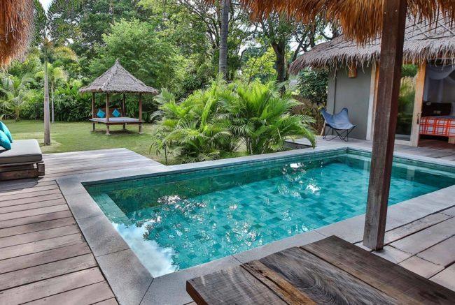 Slow Gili Air private pool honeymoon