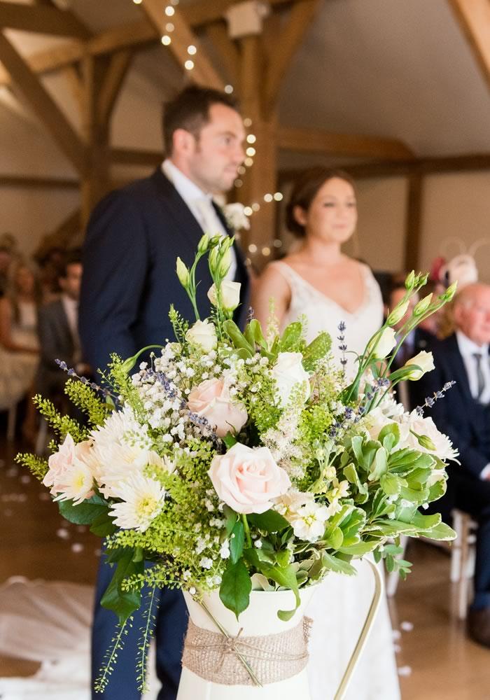 Chloe and Richard's rustic wedding