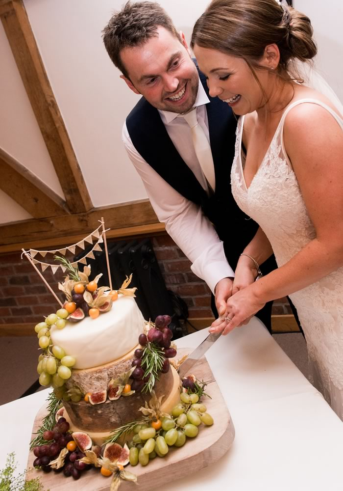 Chloe and Richard's rustic wedding