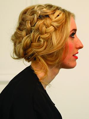 milkmaid braids finished