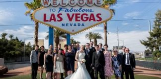 Rachel and James enjoy a fun-filled Las Vegas wedding with close family and friends before celebrating again back in the UK.