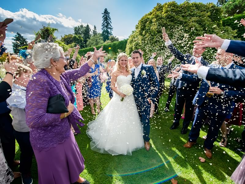 Elizabeth and Richard tie the note in a classy ceremony, choosing a lavender and white colour scheme and elegant avalanche roses. Click to see more photos and inspiration from their real wedding, including festoon, fairylights, a barn venue and more on the Wedding Ideas website!
