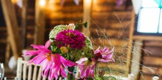 7 detail ideas for a country wedding theme at your wedding reception. Take inspiration from these pretty picks, including flowers, cake, decor and more! Click to see more photos and ideas on the Wedding Ideas website