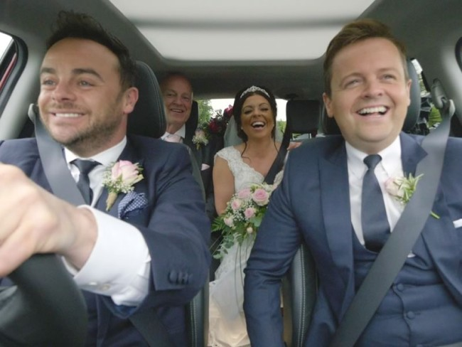 This groom arranged the ultimate wedding day surprise for his bride to be, having Ant and Dec surprise her and chauffeur her to the ceremony!