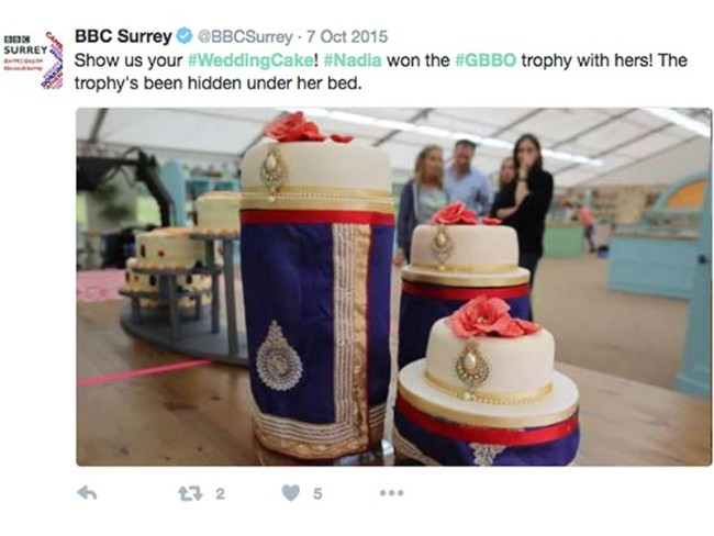 The Great British Bake Off is once again filling our screens with baked delights, here are the Great British Bake Off wedding cakes from Nadiya and Frances