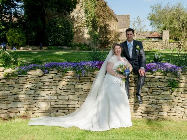 Gemma and Robin wed in a beautiful country Cotswold style church wedding and barn reception with vintage buses and charm a plenty!