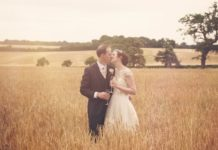 Joanne and Andrew's real wedding in an old library ceremony oozes romance. It's intimate, charming and full of pretty yellow accents to inspire you!