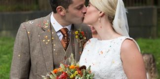 Your fix of burnt orange autumn wedding inspiration from Katie and Patrick's beautiful big day, complete with a vintage Land Rover and wheat bouquet!