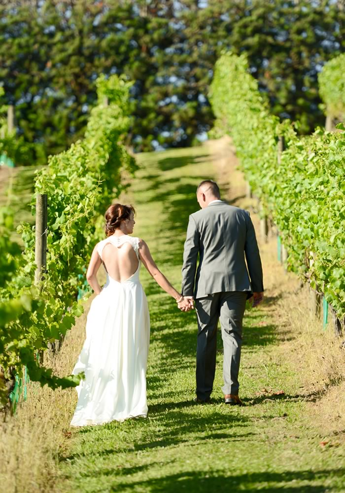 Lindsey and Stephen tied the knot at a vineyard wedding in New Zealand, complete with a bespoke dress, rainbow bridesmaids and more in the new issue 165!
