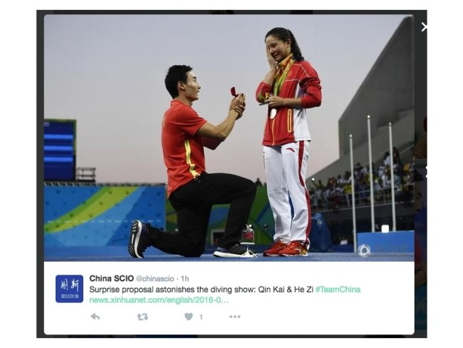 Olympic engagements! It's hotting up in Rio as sportsmen and women choose the Rio Olympics to pop the question to their talented partners!