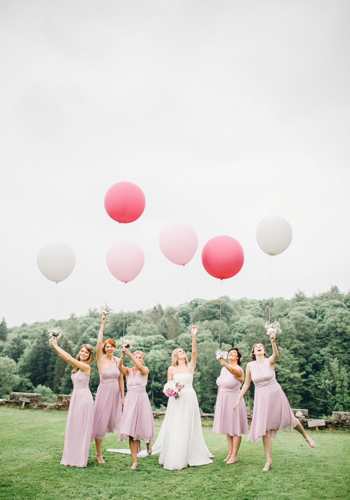 flamingo pink real wedding