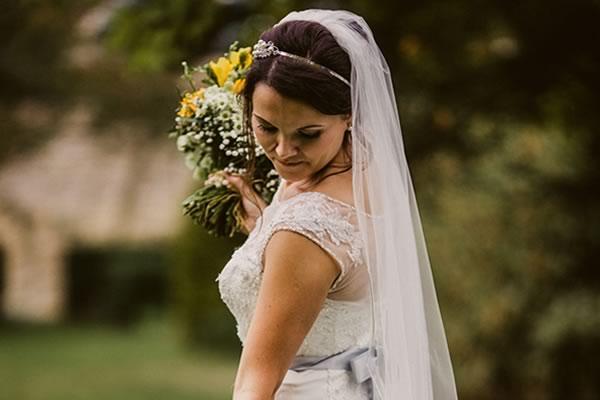 RHONDA: Bride in wedding dress bangs in cab