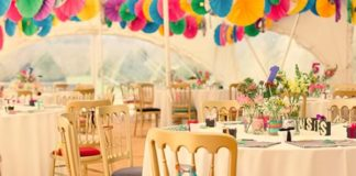 Getting married in a marquee? Here's exactly what you need to transform it into a magical multicoloured marquee wedding that no one will forget!